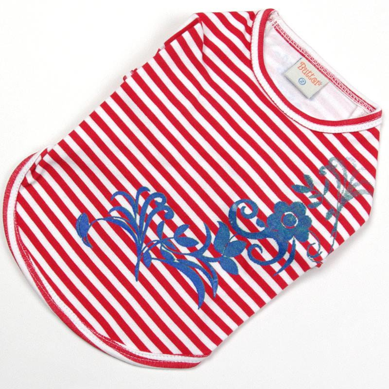 画像1: 【Tシャツ】プルメリア・ストライプTシャツ