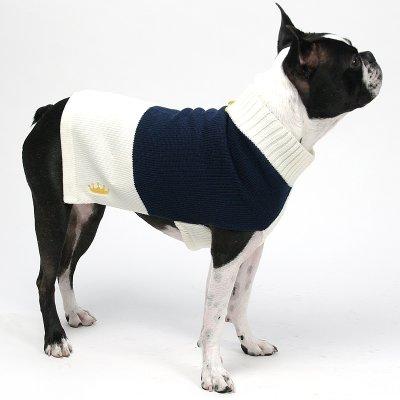 画像2: 【セーター】Mascot カラーブロック・セーター(ネイビー&クリーム)