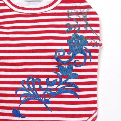 画像3: 【Tシャツ】プルメリア・ストライプTシャツ