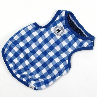 画像1: 【Tシャツ】NepuNepuオリジナル・ブロックチェック・タンクトップ(ブルー)