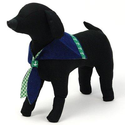 画像3: 【バンダナ】Dogs Tail セーラーカラー(グリーンライン)