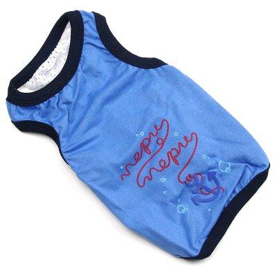 画像1: 【Tシャツ】NepuNepuオリジナル・アンカープリント・タンクトップ(ブルー)