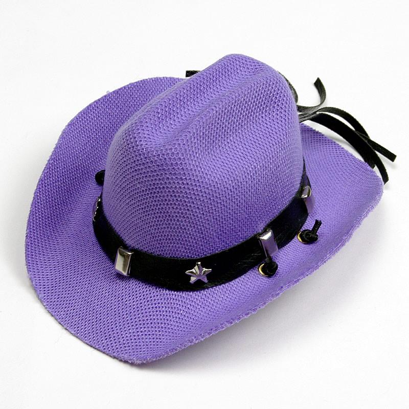 画像1: 【帽子】カウボーイ&カウガール・ハット(紫色)