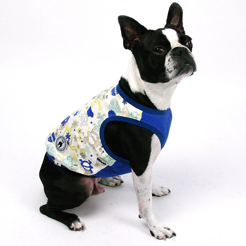 画像1: 【Tシャツ】NepuNepuオリジナル・ホヌ・ハワイアン・タンクトップ(ブルー)