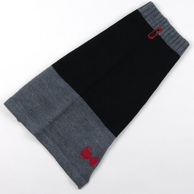 画像1: 【セーター】Mascot カラーブロック・セーター(ブラック&チャコール)