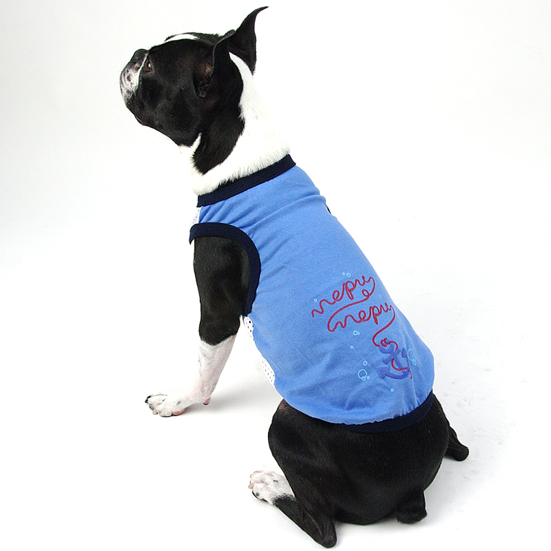 画像1: 【Tシャツ】NepuNepuオリジナル・アンカープリント・タンクトップ(ブルー) (1)
