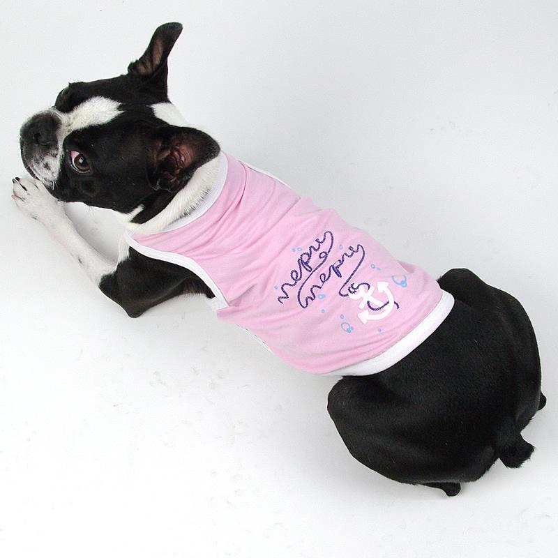 画像1: 【Tシャツ】NepuNepuオリジナル・アンカープリント・タンクトップ(ピンク) (1)