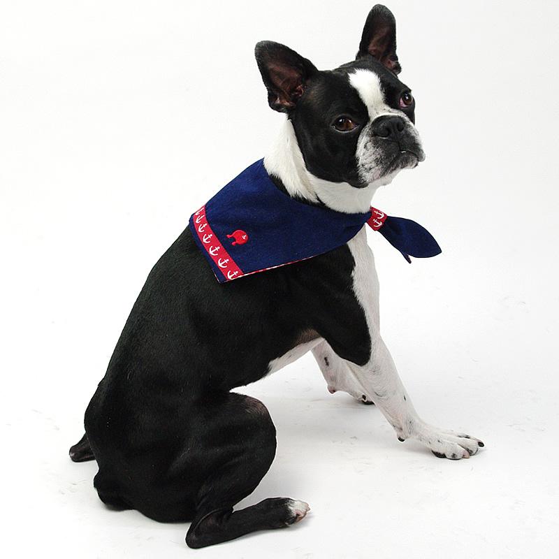 画像1: 【バンダナ】Dogs Tail セーラーカラー(レッドライン)