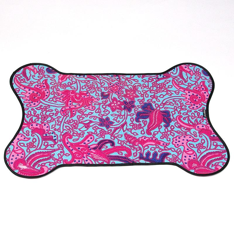 画像1: 【お散歩便利アイテム】Dogs Tail(ドッグステイル)プレイスマット(ランチョンマット)(ピンク系)